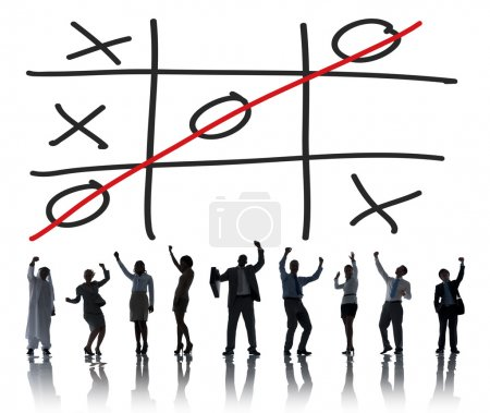 Diverse people and Tic Tac Toe