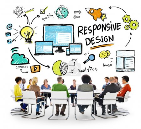 people and Responsive Design Concept