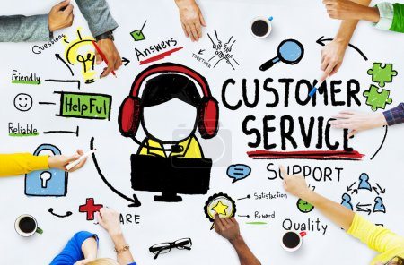 Diverse people and Customer Service Concept