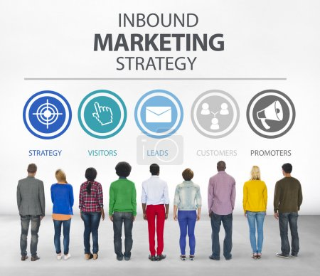 Diverse people and Inbound Marketing Concept
