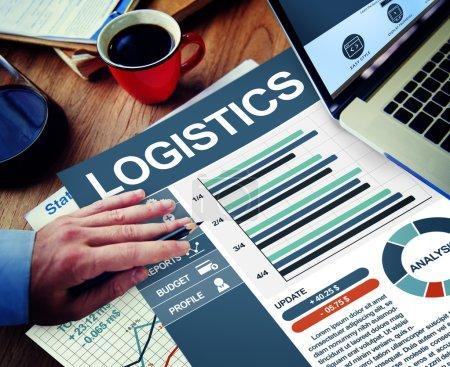 Businessman working with Logistics