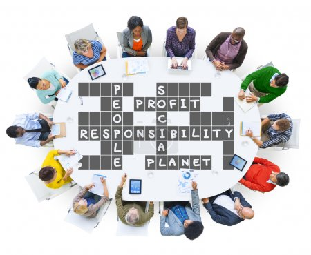 Diverse people and Social Responsibility Concept