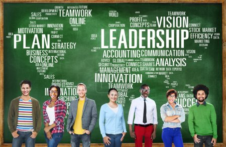 Diverse people with Leadership Concept