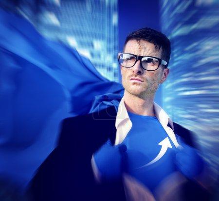 Superhero Businessman Growth Success