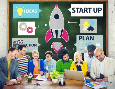 Diverse people and Start up Concept
