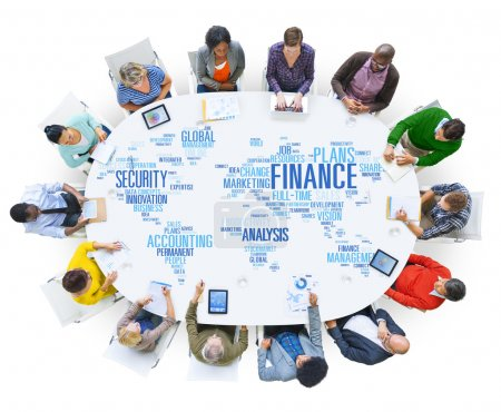 Diverse people and Finance Concept