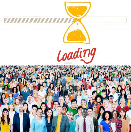 Diverse people and Loading Concept