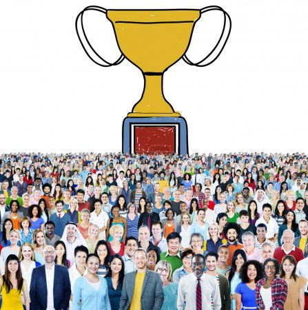Diverse people and Motivation Trophy