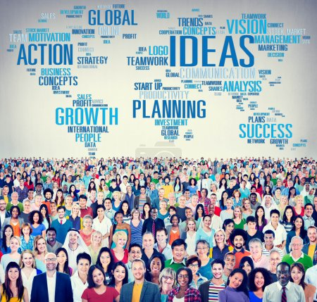 Diverse people and Ideas Concept