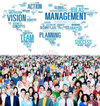Diverse people and Management Concept