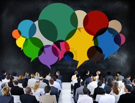 Business People Meeting Presentation Communication