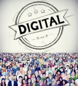 Diverse people and Digital