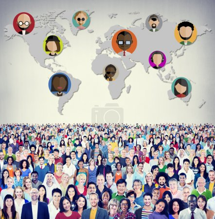 Diverse people and Global Community