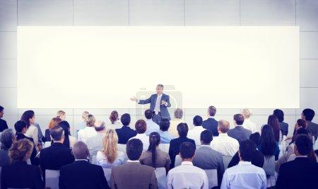 Business People Seminar Presentation Team