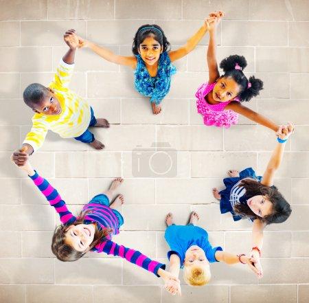 children standing in circle