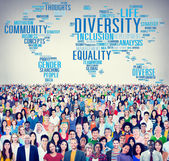 Diverse people and Diversity Concept