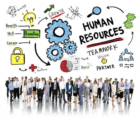 Photo for Diverse people and Human Resources Employment Job Teamwork Business Corporate Concept - Royalty Free Image