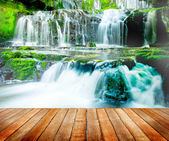 Beautiful Cascading Waterfall Nature in New Zealand