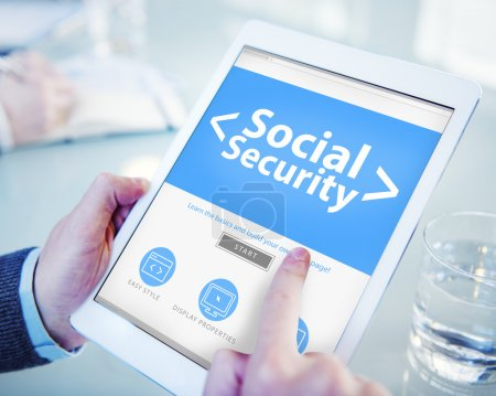 Digital Online Social Security Protection Office Concept