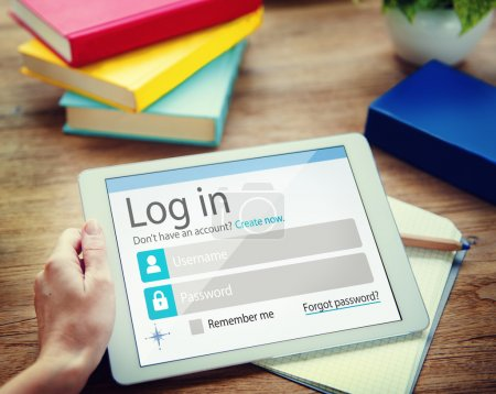 Business Man Account LogIn Security Protection Concept