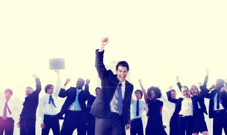 Business People Celebration Success