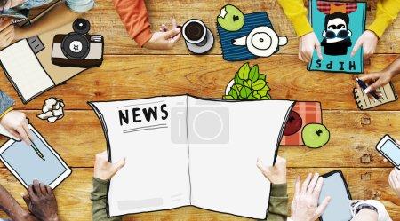 Journalist News Teamwork Broadcast Concept