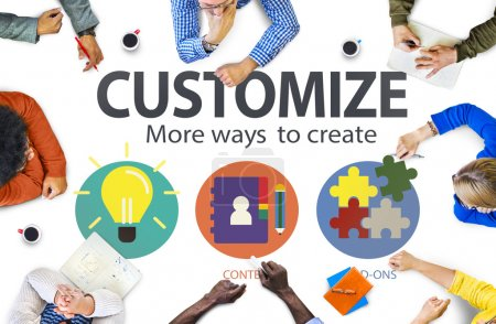 Customize Ideas Identity Personalize Concept