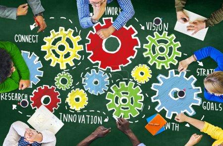 Team Teamwork Goals Strategy Concept