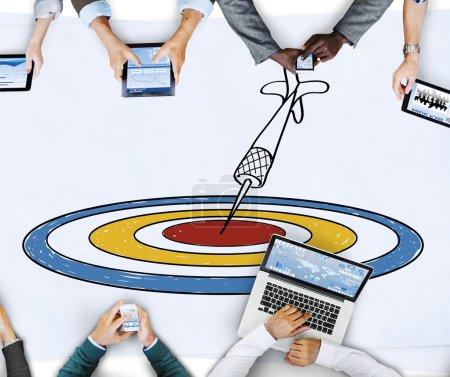 Target Aim Dot Objective Achievement Concept