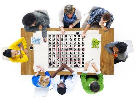 Success Crossword Puzzle Words Concept