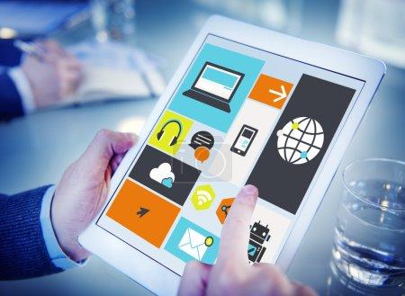 Cloud Computing Storage Media Concept