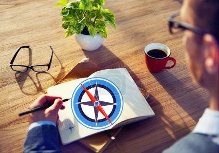 Navigation Compass Direction Concept