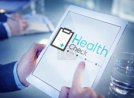 Health Check Diagnosis Analysis Concept