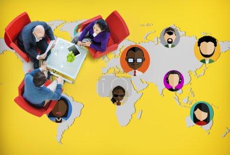 Photo pour Communauté mondiale, World People International nationalité Concept - image libre de droit