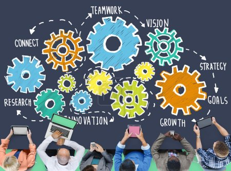 Team Functionality Industry Teamwork Concept