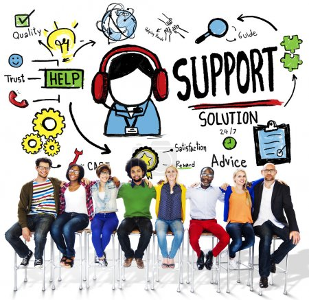 Support Solution Satisfaction Quality Concept