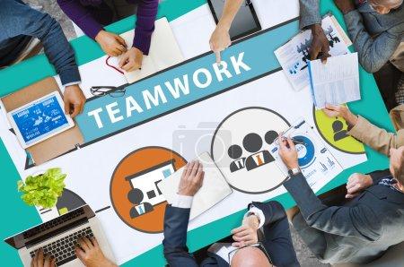 Teamwork Team Collaboration Concep