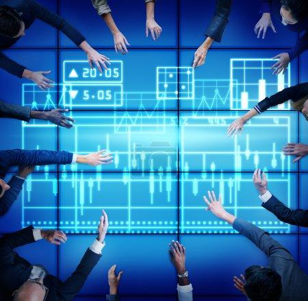 Statistics Diagram Technology  Concept