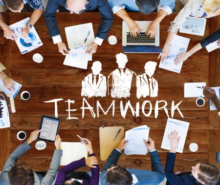 Teamwork Group Collaboration Concept