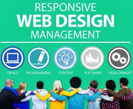 Web Design Management Concept
