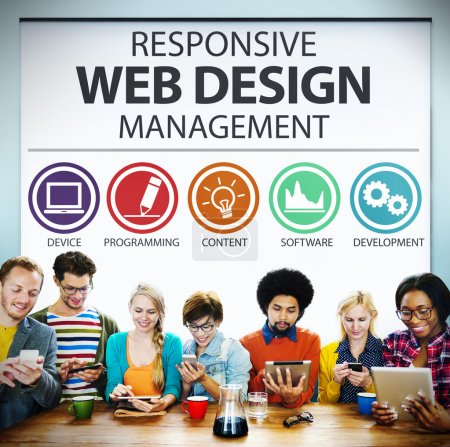 Photo for Responsive Web Design Management Programming Concept - Royalty Free Image