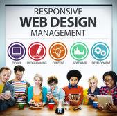 Reagovat web designu koncepce