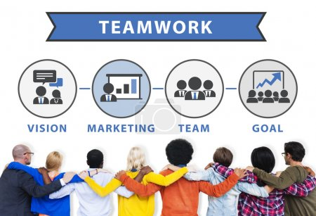Corporate Connection Teamwork Concept