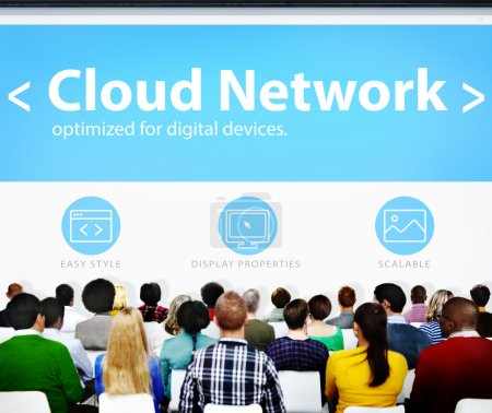 digitales netz online konzept
