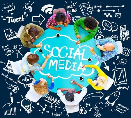 Social Media Global Communication Concept