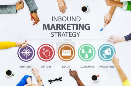 Inbound Marketing Strategy Concept