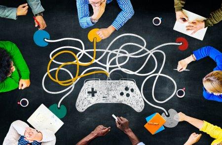 Concepto de tecnología de Control de regulador del juego