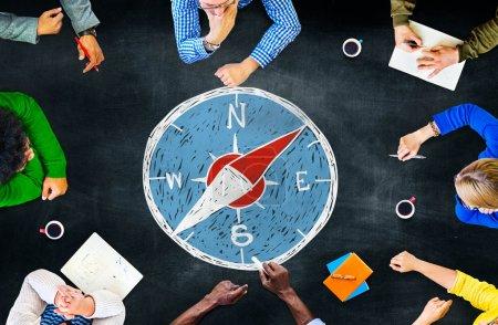 Compass Navigation Direction Adventure Concept