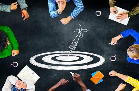 Goal Target Success Concept