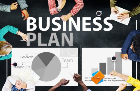 Business Plan and Strategy Planning Concept